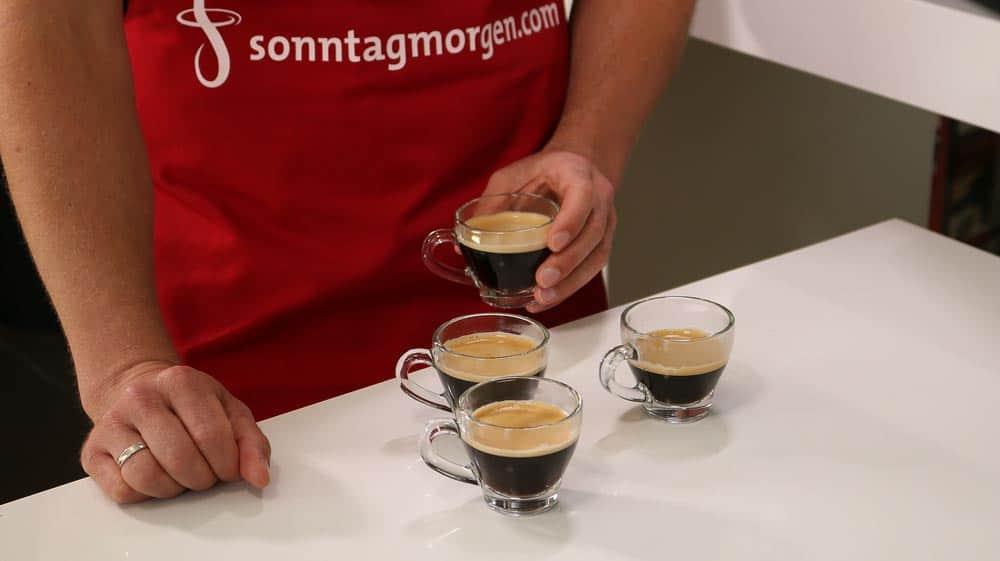 Espressoergebnisse im KVA-Test