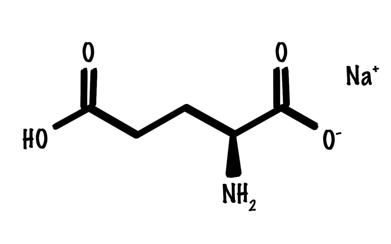 Glutamat Strukturformel