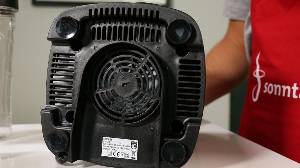 Philips Avance ProBlend 6 3D HR3655 - Standfuss umgedreht