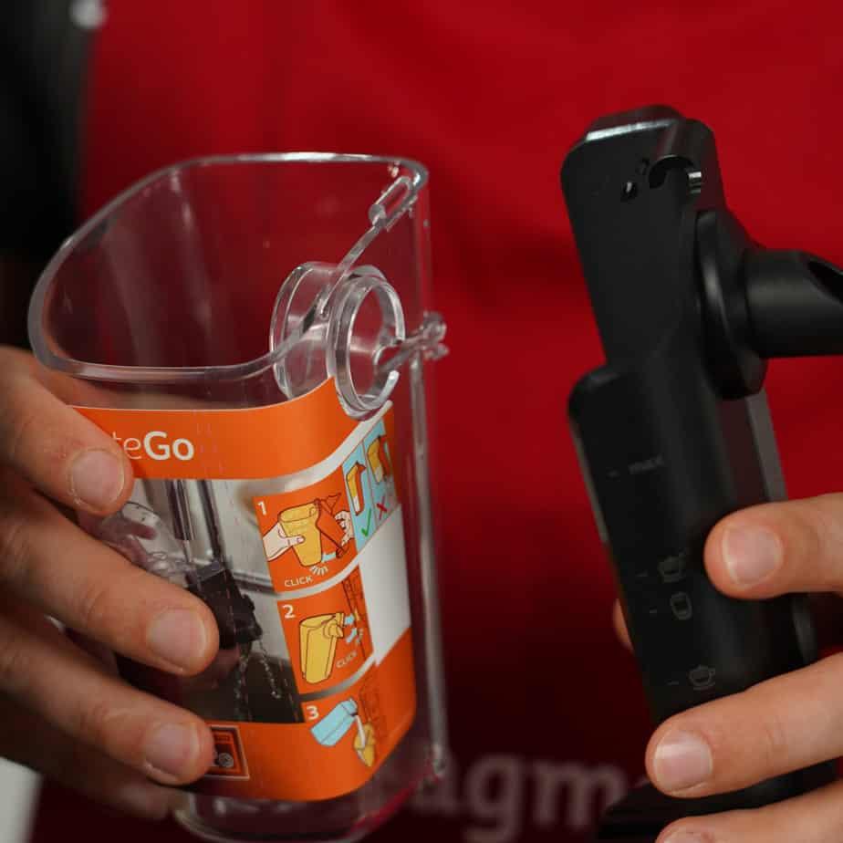 Philips LatteGo Milchbehälter und abnehmbarer Deckel