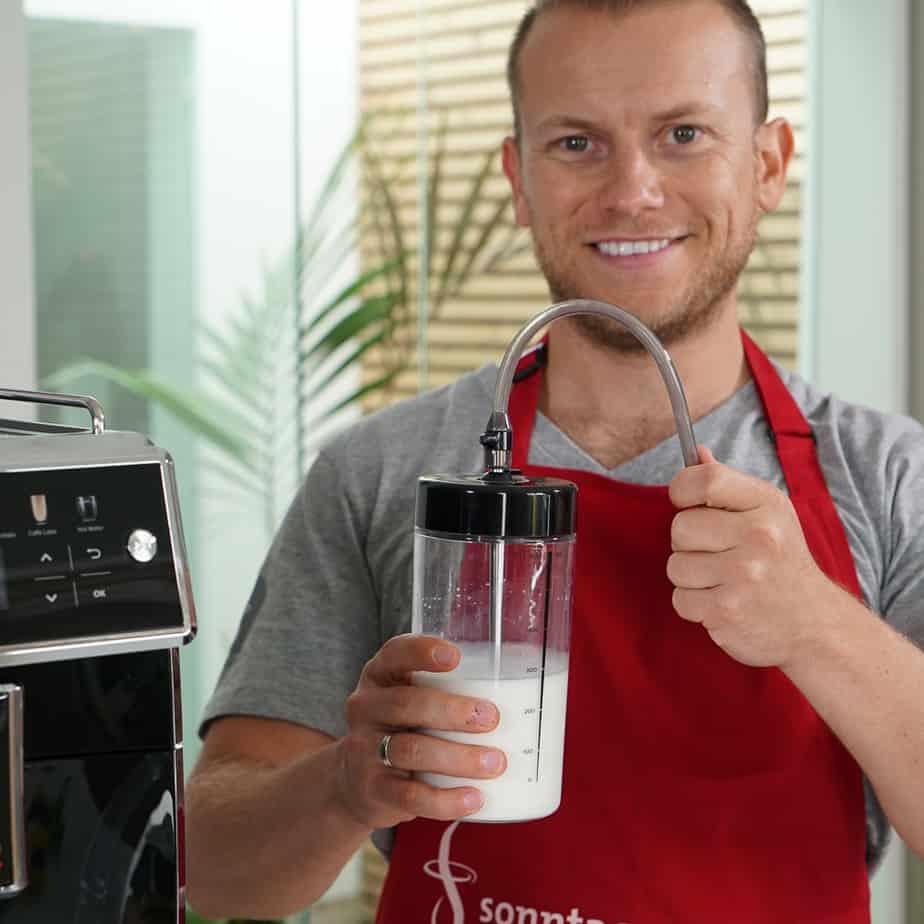 Saeco Xelsis - Milchbehälter mit Dampfschlauch